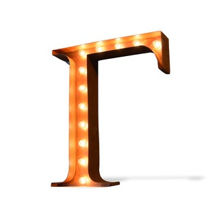 Indoor/ Outdoor Rusted Steel Greek Letter Gamma Iconic Marquee Light