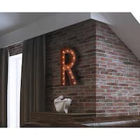 Indoor/ Outdoor Rusted Steel Alphabet Letter 'R' Iconic Profession/Commercial MarqueeLight