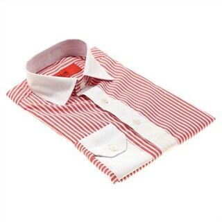Elie Balleh Men's Slim Fit Neutral Striped Dress Shirt