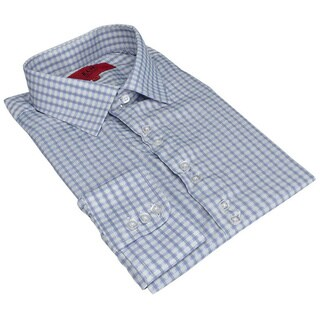 Men's Elie Balleh Slim-fit Gingham Plaid Dress Shirt