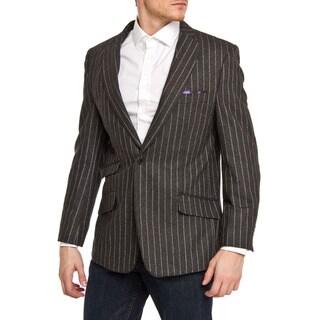 Elie Balleh Men's Slim Fit Wool-blend Pinstriped Blazer