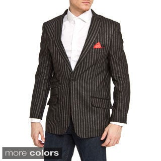 Elie Balleh Men's Slim Fit Wool-blend Pinstriped Blazer