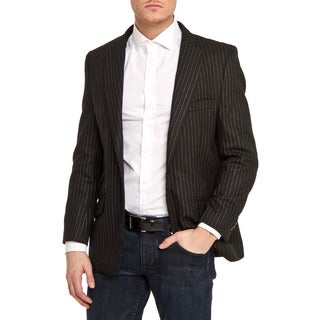 Elie Balleh Men's Slim Fit Pinstriped One-button Blazer