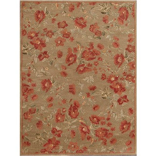 Hand-tufted Transitional Floral Wool Rug (9' x 12')