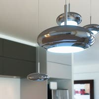 Dial Linear Chrome 3-Light Pendant