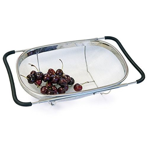 Amazing Stainless Steel Fine Mesh Expandable Over The Sink Strainer
