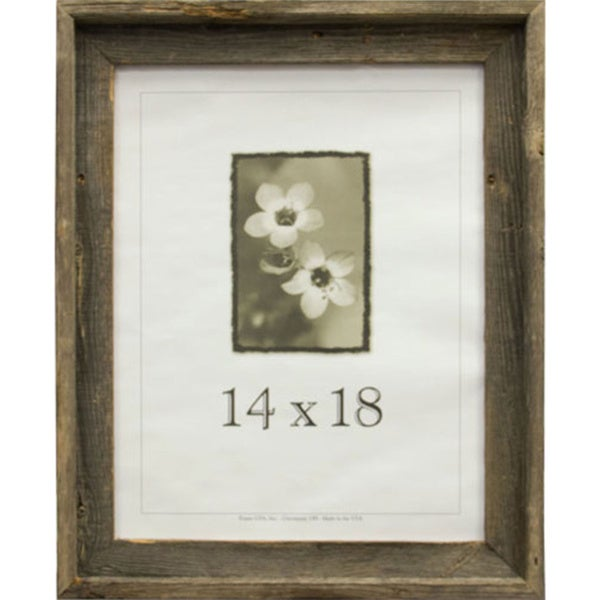 Shop Barnwood Wooden Picture Frame 14 X 18 Free Shipping Today