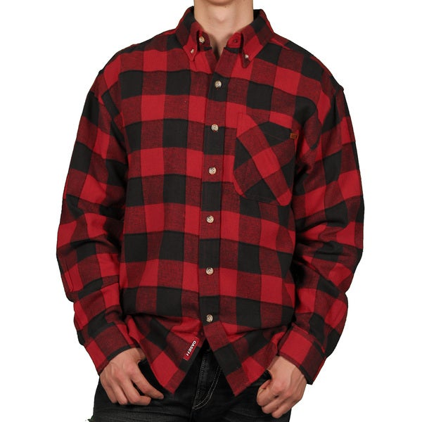 Case Ih Men 39 S Buffalo Plaid Flannel Shirt Free Shipping