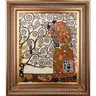 Gustav Klimt Fulfillment (Luxury Line) Hand-painted Framed Canvas Art