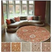 Hand-tufted Trey Traditional Wool Area Rug (9'9 Round)
