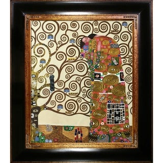 Gustav Klimt Fulfillment (Luxury Line) Hand-painted Framed Canvas Art