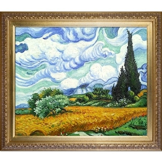Vincent Van Gogh Wheat Field with Cypresses Hand-painted Framed Canvas Art