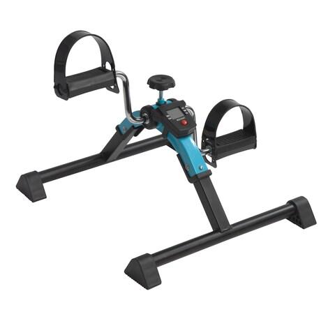 Drive Medical Blue Folding Exercise Peddler with Digital Display
