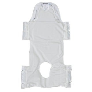 Drive Medical Patient Lift Sling with Head Support and Insert Pocket with Commode Opening