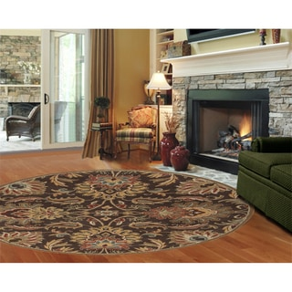 Hand-tufted Tami Traditional Wool Rug (9'9 Round)