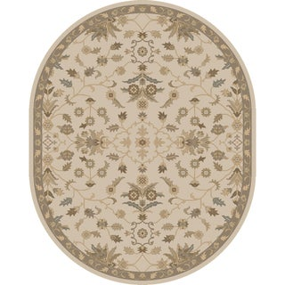 Hand-tufted Karla Traditional Wool Rug (8' x 10' Oval)