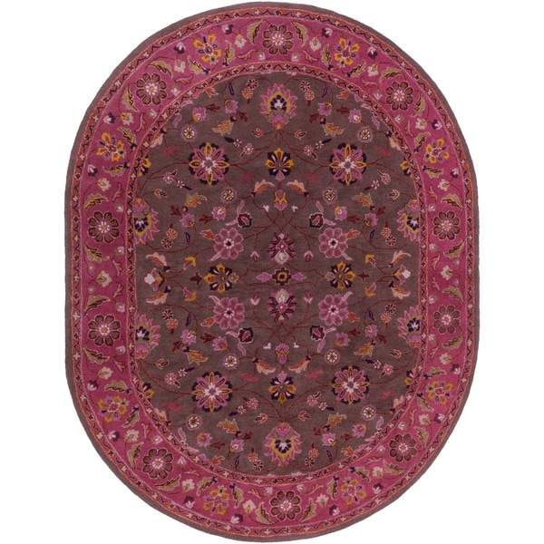 Shop Hand-tufted Ricky Purple/Brown Wool Area Rug