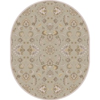 Hand-tufted Ty Traditional Wool Area Rug (8' x 10' Oval)