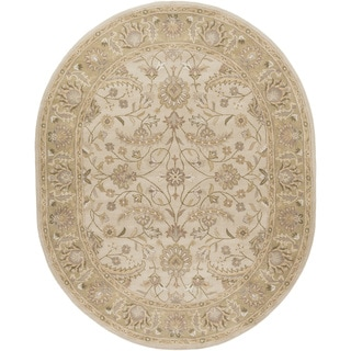 Hand-tufted Tiana Traditional Wool Rug (8' x 10' Oval)