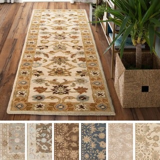 Hand-tufted Nick Traditional Wool Rug (3' x 12')