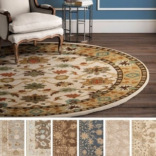 Hand-tufted Nick Traditional Wool Rug (9'9 Round)