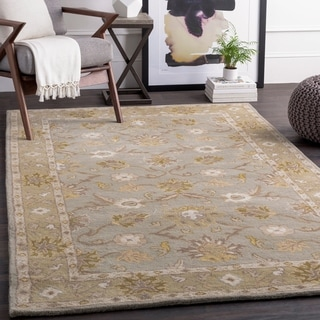 Hand-tufted Nick Traditional Wool Rug (8' Round)