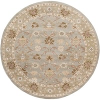 Hand-tufted Nick Traditional Wool Area Rug (6' Round)