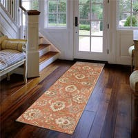 Hand-tufted Tami Traditional Wool Area Rug - 3' x 12'