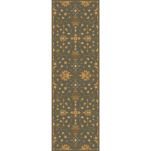 "Hand-tufted Karla Traditional Wool Area Rug - 2'6"" x 8'"