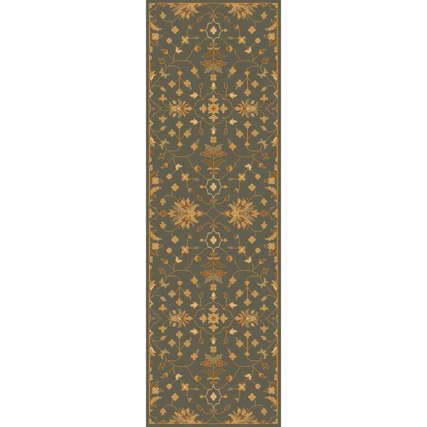 Hand-tufted Karla Traditional Wool Rug (2'6 x 8')