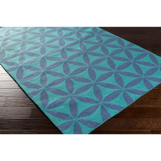 Hand-Hooked Lucy Geometric Polyester Rug (2' x 2'9)