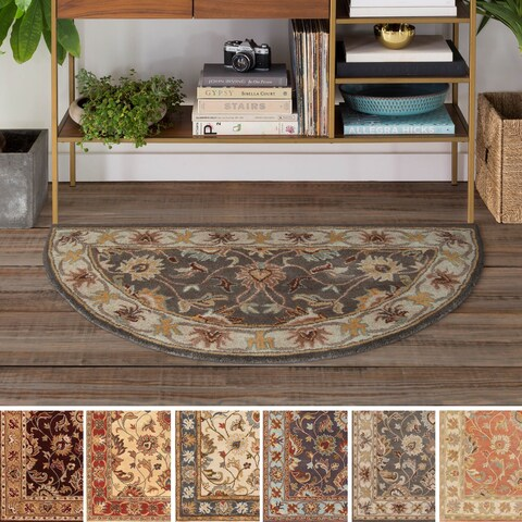 Hand-tufted Nia Traditional Wool Area Rug - 2' x 4'