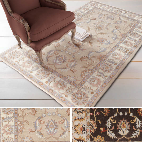 Hand-tufted Reid Traditional Wool Area Rug - 8' x 11'