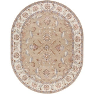 Hand-tufted Reid Traditional Wool Rug (6' x 9' Oval)