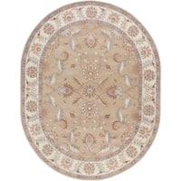 Hand-tufted Reid Traditional Wool Area Rug - 6' x 9' Oval