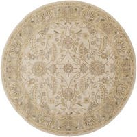 Hand-tufted Tiana Traditional Wool Area Rug (6' Round)