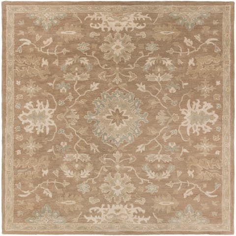 Tipton Hand Tufted Traditional Wool Area Rug