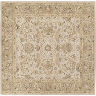 Hand-tufted Tiana Traditional Wool Rug (4' Square)