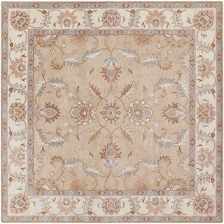 Hand-tufted Reid Traditional Wool Rug (4' Square)