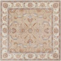 Hand-tufted Reid Traditional Wool Area Rug - 4' x 4'