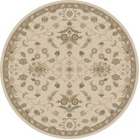 Hand-tufted Karla Traditional Wool Area Rug (4' Round)
