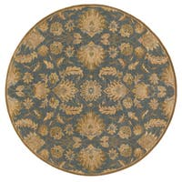 Hand-tufted Ty Traditional Wool Area Rug (4' Round)