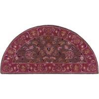 Hand-tufted Ricky Purple/Brown Wool Area Rug (2' x 4' Hearth)