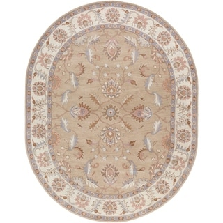 Hand-tufted Reid Traditional Wool Rug (8' x 10' Oval)