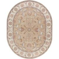 Hand-tufted Reid Traditional Wool Area Rug (8' x 10' Oval)