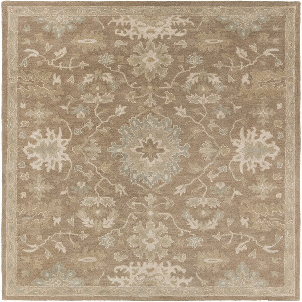 Hand-tufted Nolan Traditional Wool Area Rug (8' Square)