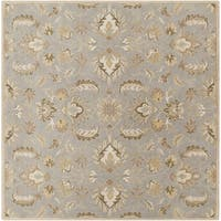 Hand-tufted Ty Traditional Wool Area Rug (8' Square)