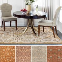 Hand-tufted Trey Traditional Wool Area Rug - 8' x 8'