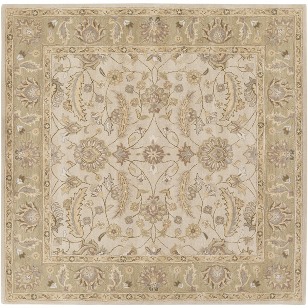 Hand-tufted Tiana Traditional Wool Area Rug (8' Square)