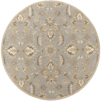 Hand-tufted Ty Traditional Wool Area Rug - 8' x 8'